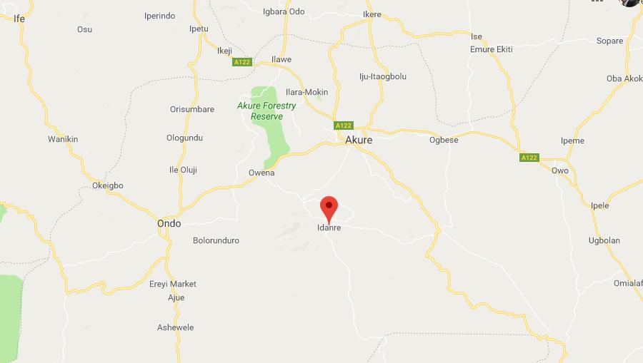 Idanre Map