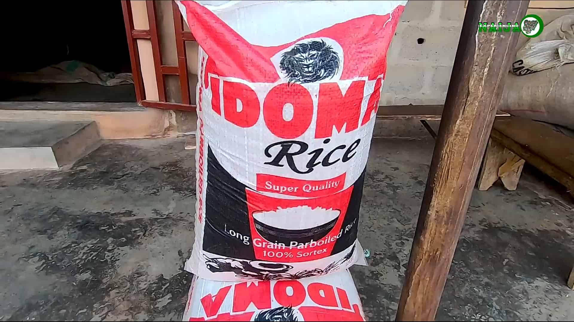 Bags of rice from the idoma model rice mill