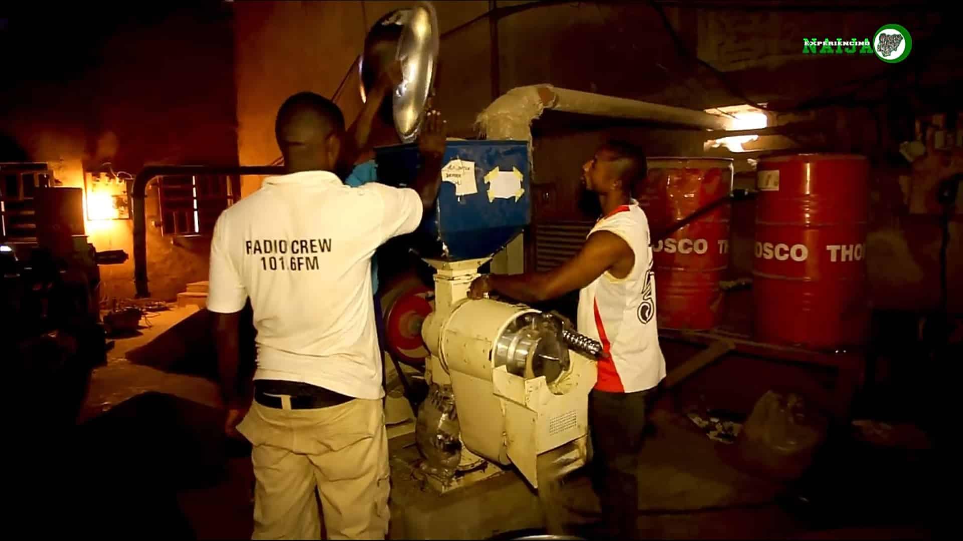 Rice milling machine at Gboko Rice Mill, Benue State, Nigeria